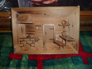 3D Cedar Picture 8 inches wide $20.