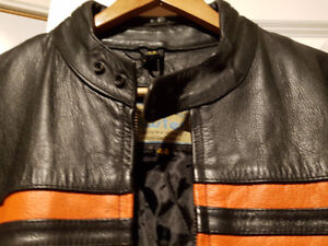 Leather Bike Jackets Black.Motorcycle riders