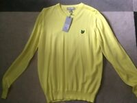 Lyle and Scott v neck jumper new with tags
