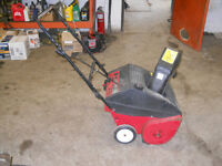 MTD SNOWBLOWER, 20 INCH WIDE