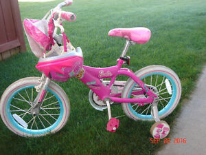 Girls Bike with helmet