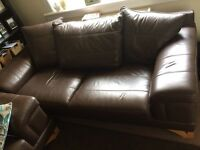 Brown leather sofa must uplift need gone