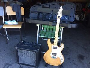 Peavey T-15 guitar and Roland cube 30 amp