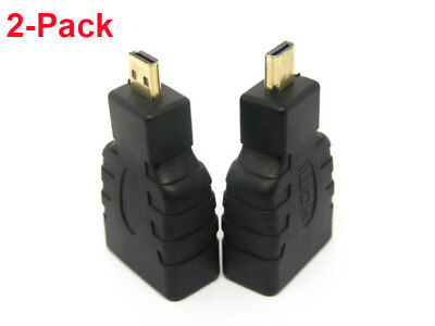 2X  Micro HDMI (Type D) Male to HDMI (Type A) Female Converter Adapter For HDTV 2 X Hdmi Type