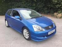 05 Honda Civic 1.6i VTEC Stunning Sports Don't be late £1295 p/ex cards delivery