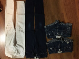 Ladies Hollister and Abercrombie Jeans/Shorts