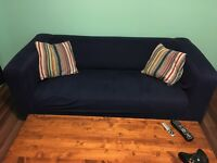 IKEA KLIPPAN loveseat with 3 slipcovers