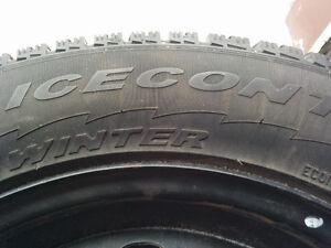 215 60 R16 95T Winter Tires PIRELLI Ice Control with Rims ! Gatineau Ottawa / Gatineau Area image 3