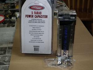 5  FARAD  RADIO  POWER  CAPACITOR  NEW  IN BOX .