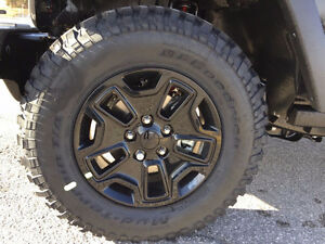 Willy's Edition Rims and Tires (Set of 5) Jeep Wrangler