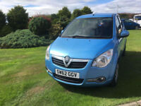 2012 62 Vauxhall Agila 1.0i ecoFLEX S Blue 5 Door NEW MOT WITH CAR.