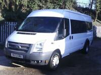 Ford Transit Medium Roof 17 Seater Tdci 135Ps DIESEL MANUAL WHITE (2013)