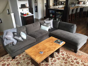 Charcoal Grey Sectional - Like new