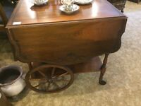Gibbard tea cart wagon wooden just arrived!