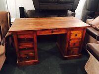 As new rustic writing desk