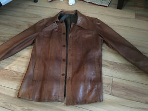 Womens brown Leather jacket excellent made in Sweden