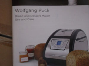 bread maker new, wolfgang puck with divided pan