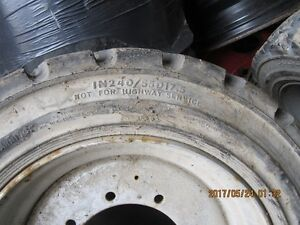 GOOD USED SOLID FORKLIFT TIRES