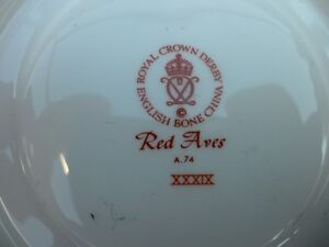 Royal Crown Derby Red Aves Plates $100 Each. Prince George British Columbia image 2