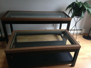 Pier One console and coffee table