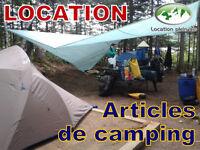 Location de matériel de camping et canot-camping, GoPro, GPS