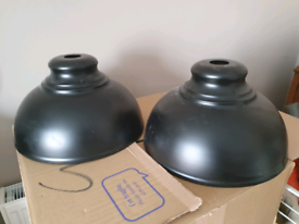 £20 for 2 matching black lampshades
