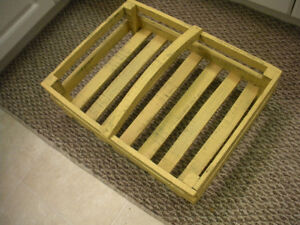 RUSTIC OLD HAND MADE FLAT BASKET