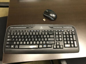 Logitech K330 cordless keyboard and cordless mouse