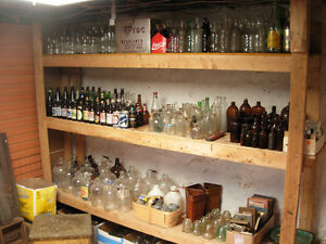 Clearance of Bottles,pop,beer,milk,jars,etc..