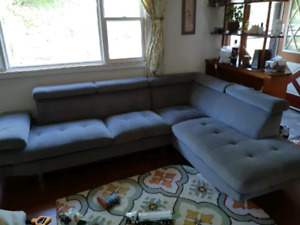 Gray retro style sectional