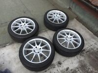 4x 16 inch Alloys with 205/45/16 tyres