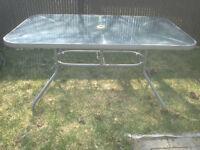 Table de patio rectangulaire