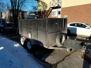 5x10 box trailer high sides