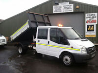 Ford Transit 2.4TDCi Duratorq ( 140PS ) 350M Crew cab tipper**ex council**