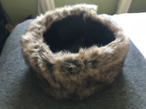 Faux fur winter head band