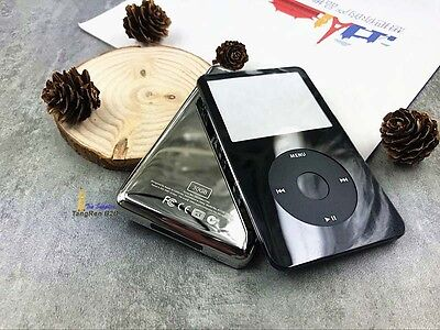 black faceplate metal back case housing clickwheel kit for ipod 5th video 30gb ()