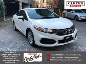 2015 Honda Civic LX + CERTIFIED + MANAGERS SPECIAL!