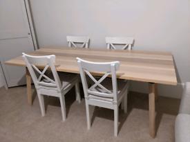 Scandinavian Plank Dining Table (IKEA)
