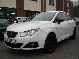 2012 Seat Ibiza 1.4 16V SportCoupe SE Copa,ALPINE WHITE,1 OWNER,GEN 33,000 MILES