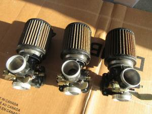 complete 3-carb system Mikuni VM34  Slide carbs