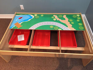 Perfect condition! Train table with storage bins