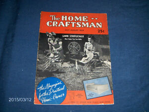 THE HOME CRAFTSMAN-JULY 1939 BACK ISSUE-MAGAZINE-VINTAGE!