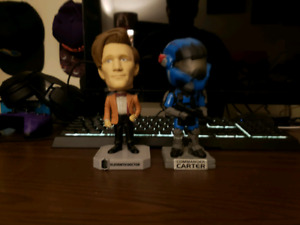 Halo and Dcotor Who Bobbleheads