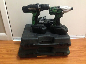 Hitachi 18v set of two drills