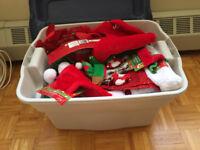 34 Santa & Elf Hats Never Worn Tags Still On & More