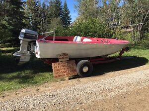 1957 boat with 1988 motor and trailer