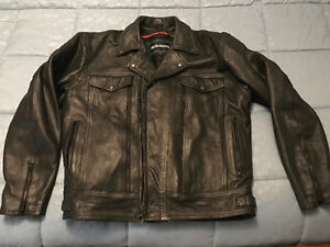 Men's leather biker style jacket