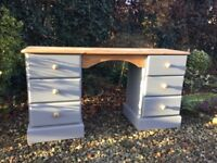 Painted Pine Dressing Table / Desk