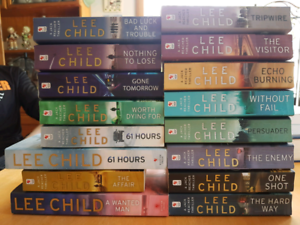 16 Lee Child books. 15 titles. Good used condition.