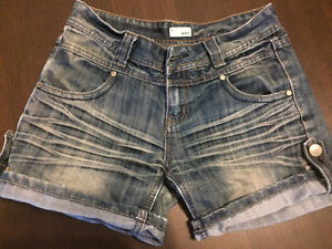 EXT denim shorts